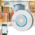 Wi-Fi  детектор дыма + тепла  независимая сигнализация  беспроводной пожаробезопасный датчик дыма  Домашняя безопасность  пожарное оборудован...