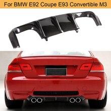 Диффузор для заднего бампера из углеродного волокна для BMW E92 Coupe E93 Кабриолет M3 2008-2013 Add On Черный FRP диффузор