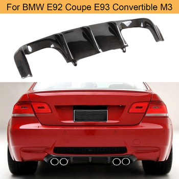 Carbon Fiber Car Rear Bumper Diffuser Lip Spoiler for BMW E92 Coupe E93 Convertible M3 2008 - 2013 Add On Diffuser Black FRP image