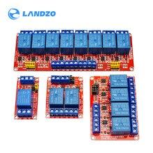 1/2/4/8 kanal relais modul relais expansion board 5V mit einem Trigger Level Unterstützung optokoppler Relais expansion Board