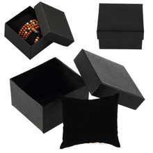 1PCS Fashion watch box luxury watch box with foam Pillow Cushion For Bracelet Bangle Beads Earrings Ring Jewelry Watch Box Black(China)