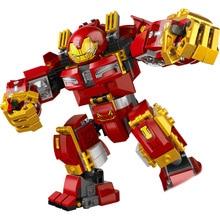 цена на Upgraded Version  Marvel Iron Man Hulkbuster Avenger Infinity War Machine Building Blocks Super Heroes  War ChildrenToys