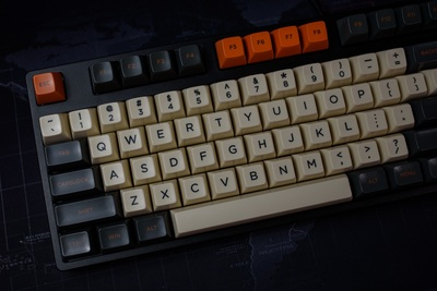 1 Set SA Profile Carbon Theme Warning Key Cap Mechanical Keyboard Dye Sublimation Keycaps For MX Switches