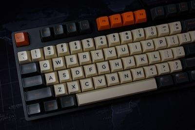 1 Set SA Profile Carbon Theme Warning Key Cap Mechanical Keyboard Dye Sublimation Keycaps For MX Switches