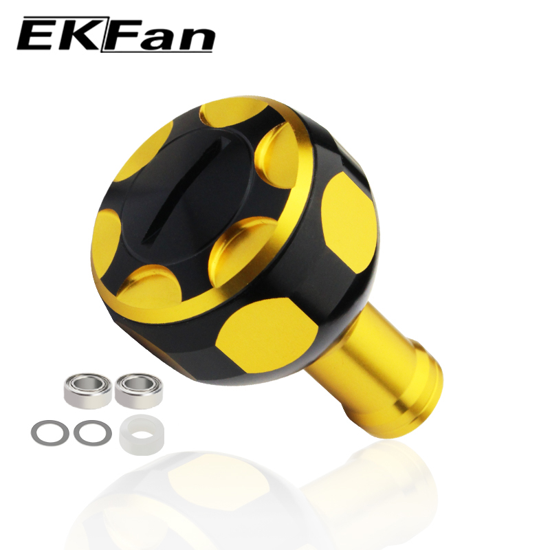 EKFan New Diameter 26mm Fishing Reel Handle Knob With Bearings Fit For 7mm*4mm*2.5mm Shaft  Fishing Reel Tool For Spinning Reel