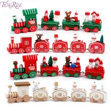 Wooden Christmas Train Decoration Santa/bear Xmas Noel Navidad 2019 Christmas Gift  New Year ornament Christmas Decor for Home все цены