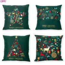 QIFU Merry Christmas Ornaments Decorations For Home 2019 Green Pillowcase Xmas Tree Cristmas Gift Happy New Year 2020