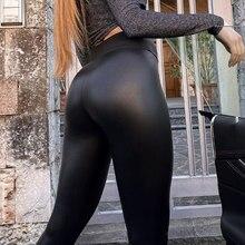 Leggings de couro de inverno feminino sexy night club hip levantamento casual preto plus size 5xl calças do plutônio cintura alta quente leggings moda