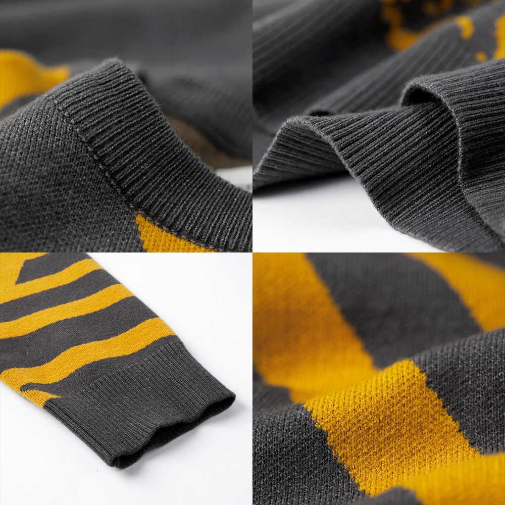 Kuegou suéter de personagem de patchwork masculino, pulôver casual para homens, malha de estilo coreano, plus size 2019, outono 1754