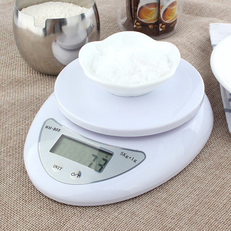 LED Electronic Scales Kitchen 5000g/1g 5kg Food Diet Postal Kitchen Scales Balance Measuring Weighing Scales