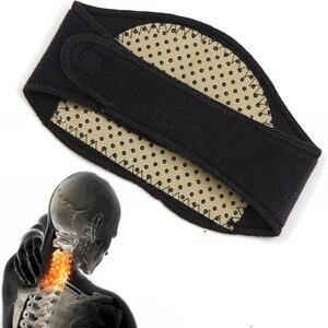 Image 2 - 1Set BYEPAIN Salute E Bellezza Terapia Magnetica Tourmaline Set Con Il Supporto del ginocchio Pastiglie Massager del Collo Brace E Cintura In Vita