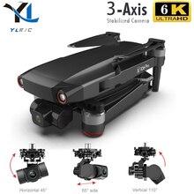 2021 جديد L106 برو 6K الترا HD كاميرا مزدوجة بدون طيار لتحديد المواقع 4K 5G واي فاي نقل 3-axis PTZ فرش السيارات وقت الطيران 28 دقيقة