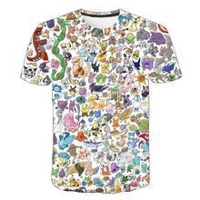 3D Print Cartoon Animation Pattern Pikachu T Shirt Kids Printing Casual Fashion Cool Boy Girl Baby Tops Comfortable Short Slee