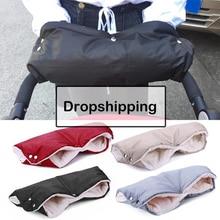Зимние теплые варежки на коляску для новорожденного ребенка, ветрозащитные перчатки, водонепроницаемые флисовые Детские коляски, аксессуары, Прямая поставка