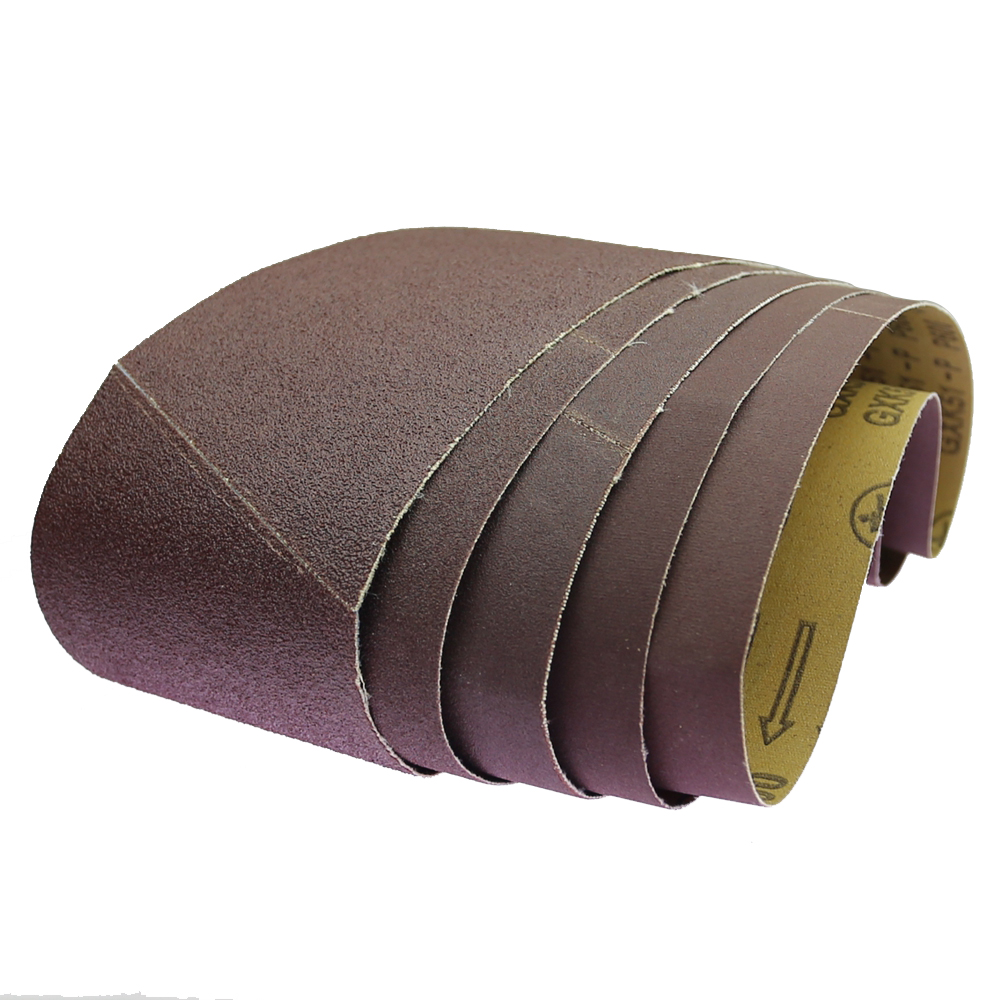"Image 3 - 10 pieces 610*100mm Abrasive Sanding Belts 24""*4"" P60   P600 for Wood Soft Metal 9400 Sanding machineAbrasive Tools   -"