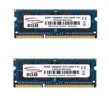 SODIMM Memory Notebook PC3-12800 Ddr3-Ram 1600mhz KAMOSEN Blue 16GB 8GB Non-Ecc 204-Pin
