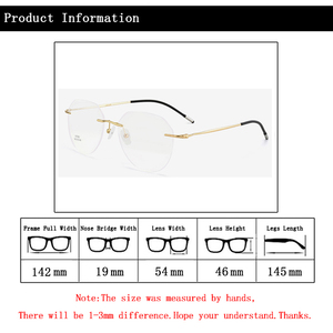 Image 5 - Rimless Photochromic Myopia Glasses Women Men Nearsighted Pilot Sunglasses Travel Driving Eyeglasses 0, 1.0~ 6.0 N5