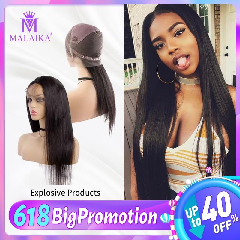 "MALAIKA Full Lace Human Hair Wigs For Black Women  Straight Wigs 130% Density High Quality 10""-28"" Brazilian Hair Full Lace Wig"