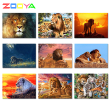 5D Diamond Paintings Picture Animal Lion Diamond  Mosaic Paintings New Full Diy Crystal Dierlijke Leeuw Diamond Embroidery 2Jh01 dazzle screen prints diamond paintings