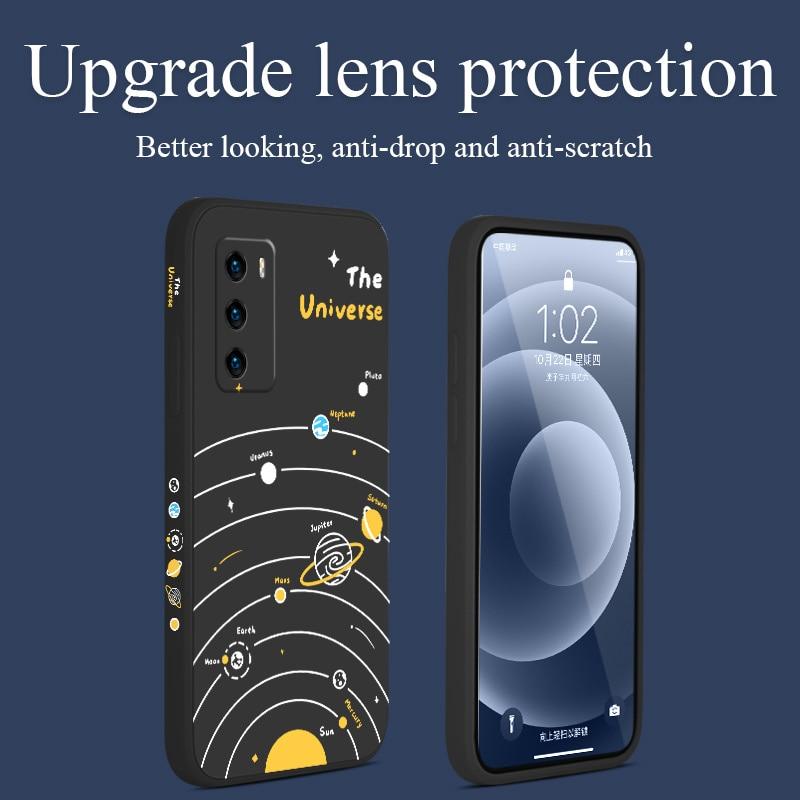 Чехол для Huawei P40 P40Lite P30 P20 Mate 40 40Pro 30 20 Pro Lite P Smart 2021 Y7a, чехол из жидкого силикона