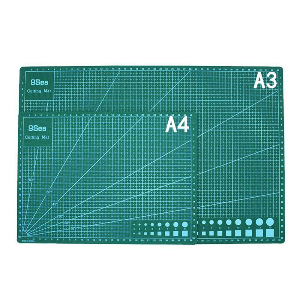 A3 /A4PVC Rectangle Grid Lines Cutting Mat Tool Plastic Cutting Board Mat Double-sided Cutting Pad Craft DIY Cut Tools