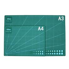 A3 /A4PVC Rectangle Grid Lines Cutting Mat Tool Plastic Cutting Board Mat Double-sided Cutting Pad Craft DIY Cut Tools a3 cutting mat cutting board cutting plate 45cmx30cm