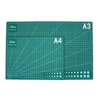 A3/a4pvc retângulo grade linhas de corte esteira ferramenta de placa de corte de plástico esteira dupla face almofada de corte artesanato diy ferramentas de corte