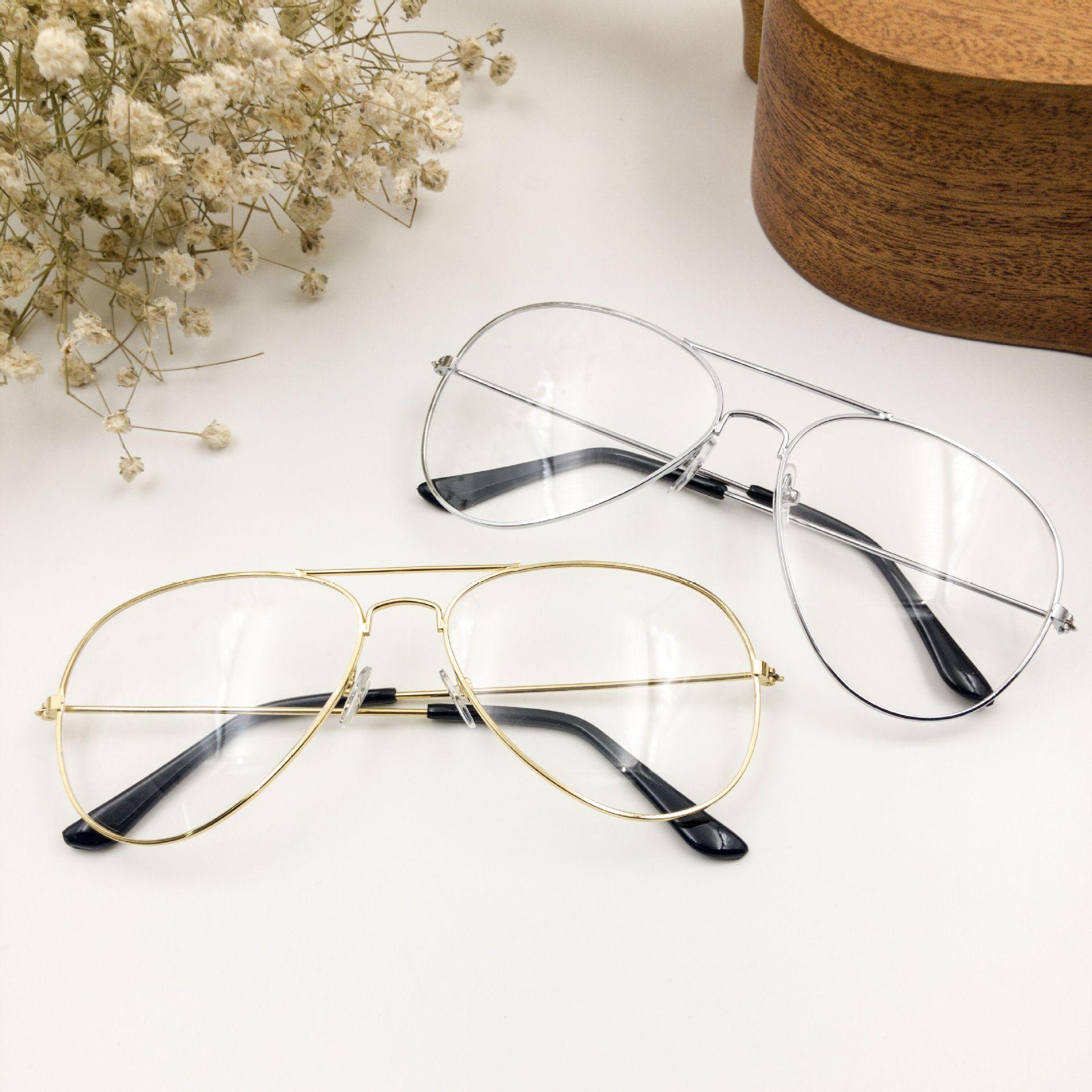 Frame Aviator Sunglasses Trend Plain
