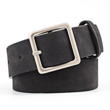 HUOBAO Women belt 2019 New Wide Suede Leather Waist Female Casual Ladies Square Pin Buckle belts for Dresses