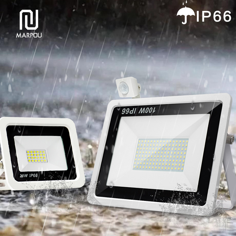 Reflector Floodlight Motion Sensor LED Floodlight Waterproof Outdoor Wall Garden 10W 20W 30W 50W 100W 220V LED Spotlight Lamp