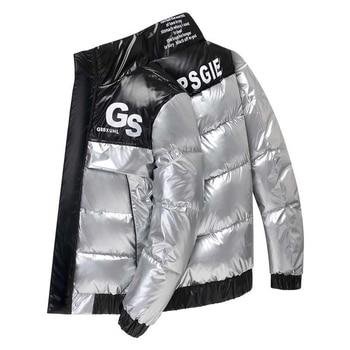 2020 Men Parka Cotton Padded Winter Jacket Coat Mens Warm Jackets Male Printed Stand Collar Zipper Coats Teenagers Down Parkas цена 2017