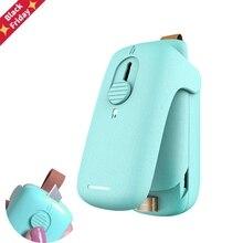 2 in 1 Mini Slide Heat Sealer Portable Capper Food Saver Household Handheld Sealing Packing Machine for Various Plastic Bags