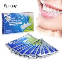 28 pces/14 pares avançado dentes branqueamento tiras dente mancha remoção higiene oral cuidados dental sombra branqueamento kit esmalte branco ferramenta