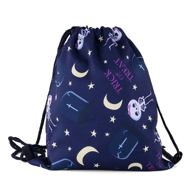 Unisex Fashion Portable Women Backpacks Print Shopping Bags Travel Shop Bag Drawstring Backpack