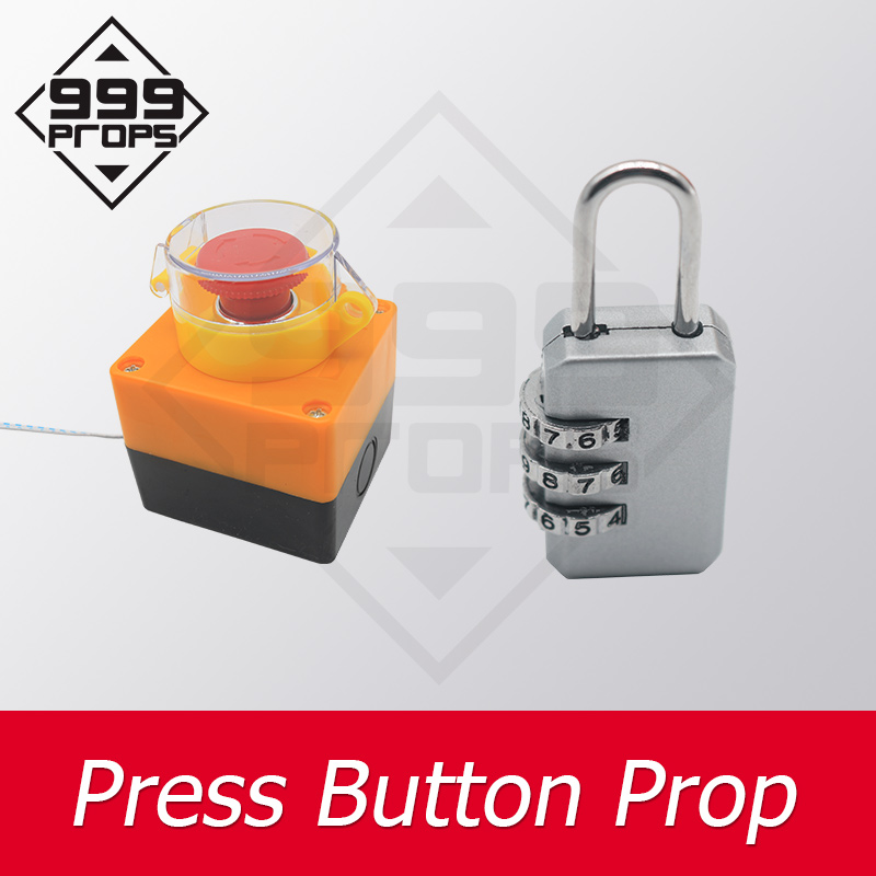 999PROPS Press Button Prop Room Escape Open The Coded Lock And Press The Button To Unlock Real Life Adventurer Games