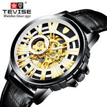 Tevise Automatic Mechanical Watch Men Hollow Skeleton Watches Self-Winding Male Luxury Brand Sport Wrist Watch Relogio Masculino creative watches men classic luxury black leather dial skeleton sport watches army wrist mechanical watch relogio masculino a1