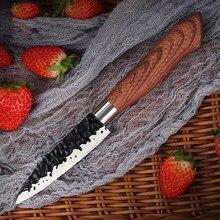 Facas de cozinha profissional faca de frutas facas chef japonês alta carbono aço inoxidável imitação damasco padrão faca