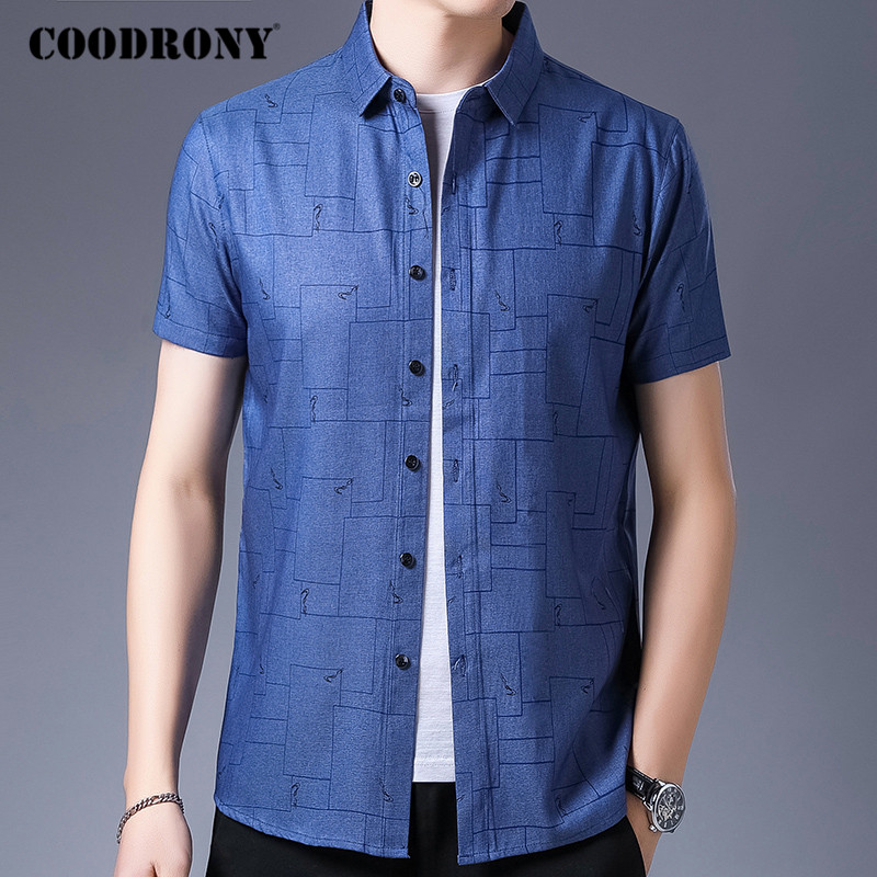 COODRONY Brand Shirt Men Fashion Business Casual Shirts Mens Korean Clothes Spring Summer Short Sleeve Camisa Masculina C6039S