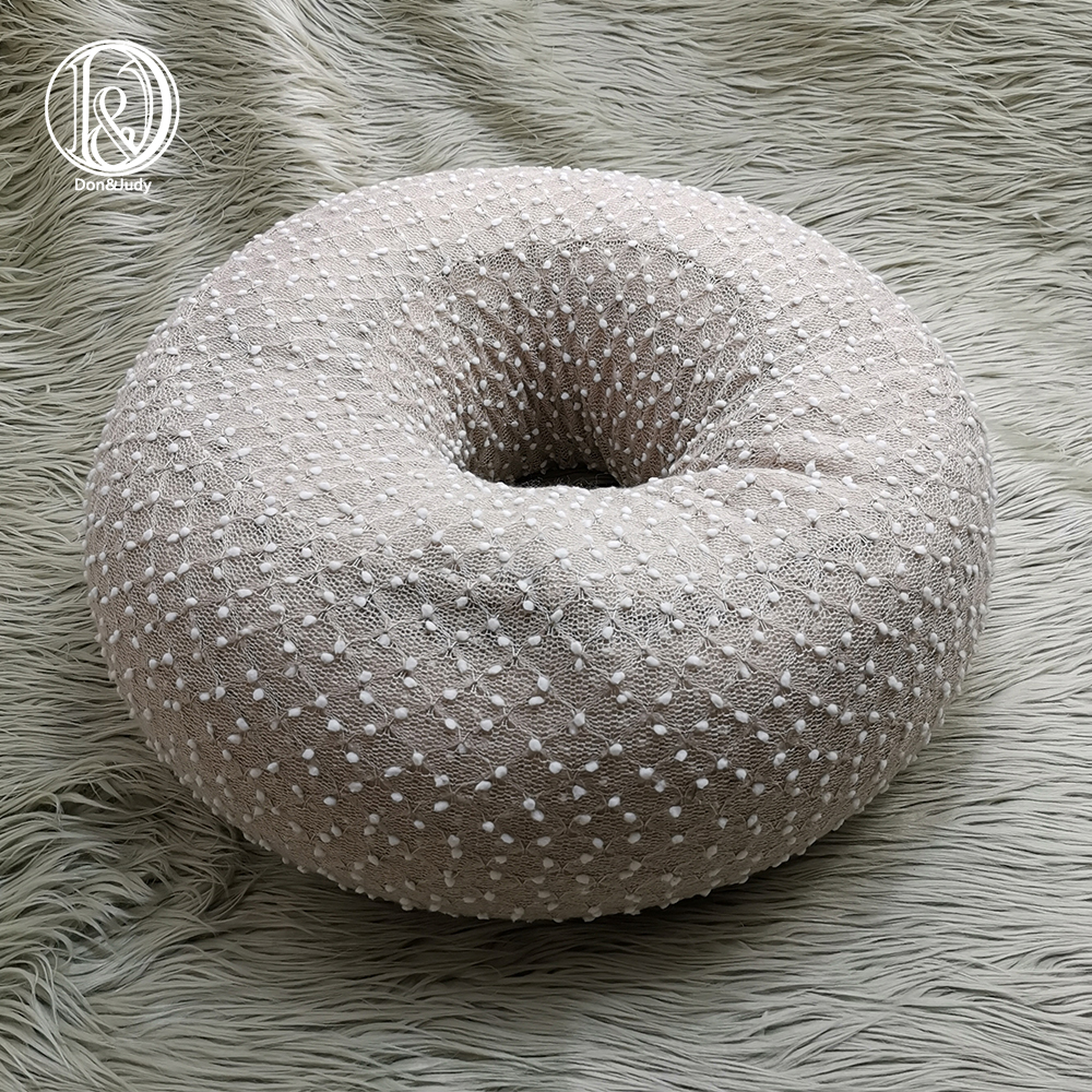 Don&Judy Donut Posing Nest + 150x100cm Fake Fur Blanket Set Newborn Poser Photo Prop Infant Posing Pillow Studio Accessories
