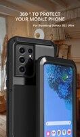 LOVE MEI-funda potente para Samsung Galaxy S21, carcasa Ultra metálica a prueba de golpes y suciedad para Samsung Galaxy S21 Plus S21 +