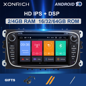 8 Core 2 din Android 10Car Radio Multimedia para Ford Focus 2 3 mk2 Mondeo 4 Kuga Fiesta Transit Connect S-MAXC-MAX IPS DSP4G 64G
