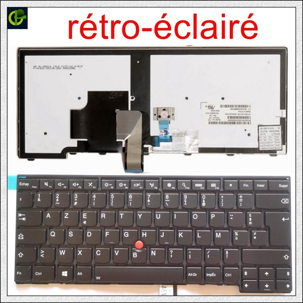 French Backlit Azerty Keyboard For  Lenovo ThinkPad L440 L450 L460 L470 T431S T440 T440P T440S T450 T450S E440 E431S T460 FR