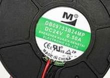 Para original m db09733b24mp 24 v 0.50a 9 cm 9733 3 fio ventilador de refrigeração da turbina frete grátis
