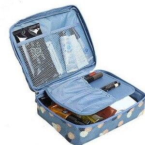 Горячая продажа Косметическая сумка для хранения дорожная сумка органайзер для макияжа Уход за кожей чехол для хранения, на молнии 12 цветов