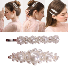 Female Fashion Pearl Hair Accessories Hair Clip Sweet Girl Hairpin Headwear Elegant For Women Girls BB Side Clip ubuhle fashion women full pearl hair clip girls hair barrette hairpin hair elegant design sweet hair jewelry accessories 2019