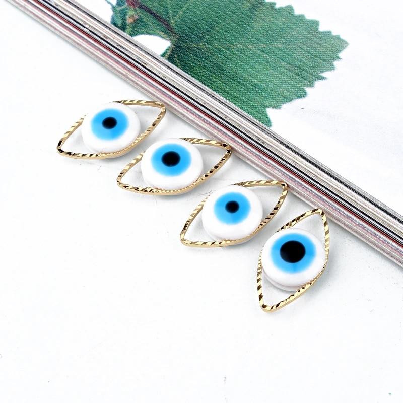 Evil Eye Connector Gold Evil Eye Connector Evil Eye Bracelet Evil Eye Evil Eye Findings