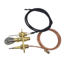 Liquefied Gas M8*1 Thermocouple 900mm Ignition line Three Fire Long Open Flame Components Heater Pit Replacement Parts
