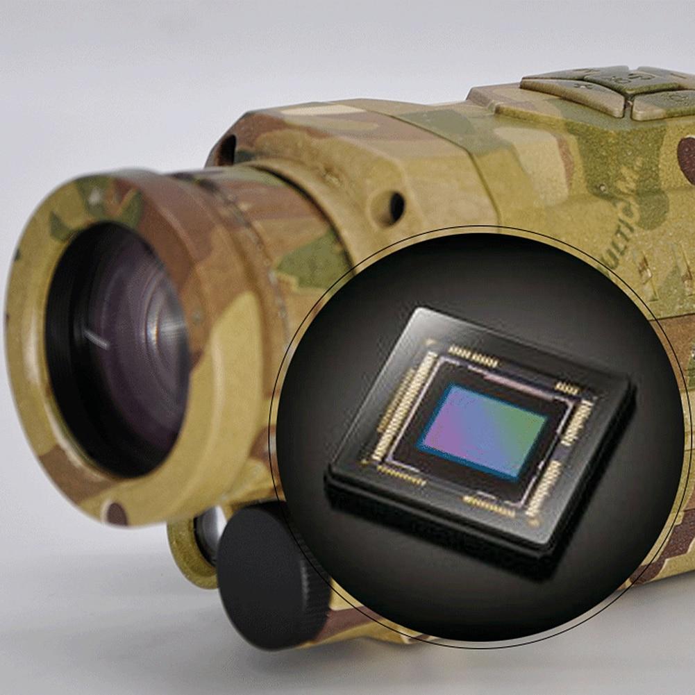 Visão noturna monocular 5x infravermelho câmera digital de vídeo 200m alcance para acampamento de caça ao ar livre usado para tirar fotos novo - 5