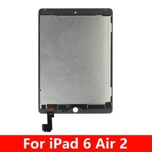 100% протестированный сенсорный экран для Apple iPad 6 Air 2 A1567 A1566, ЖК-дисплей, кодирующий преобразователь сенсорного экрана в сборе, дигитайзер экр...