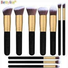 Bettyliss, 10 шт., набор кистей для макияжа, профессиональная пудра, основа, тени для век, кисти для макияжа, косметика, мягкие синтетические волосы